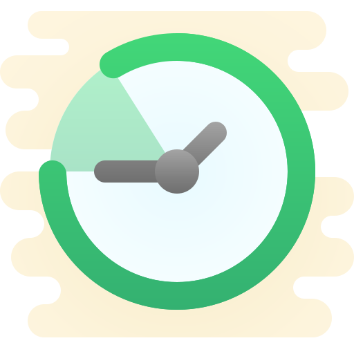 Green clock, referencing quick web design speeds