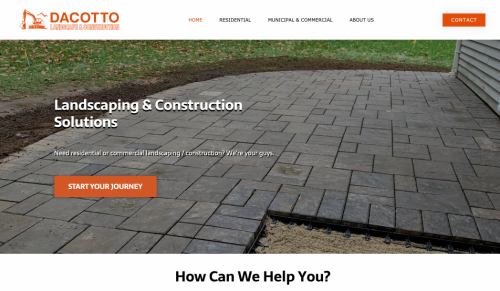 Screenshot DaCotto's website in Westminster, MA. Made by Zoka Design in Leominster, MA.